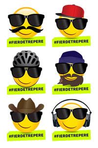 Lot de 6 autocollants emojis